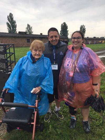 Butler alumna Ellie Hersh with Holocaust survivor Eva Kor