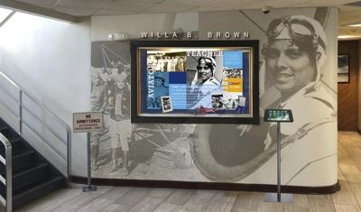 Airport officials approve pilot Willa B. Brown display