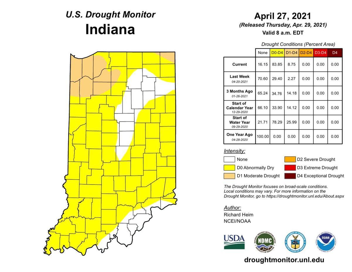 Indiana drought May 3