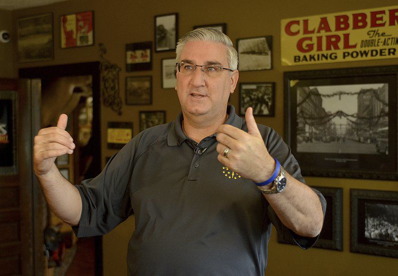 Holcomb makes Terre Haute election stop