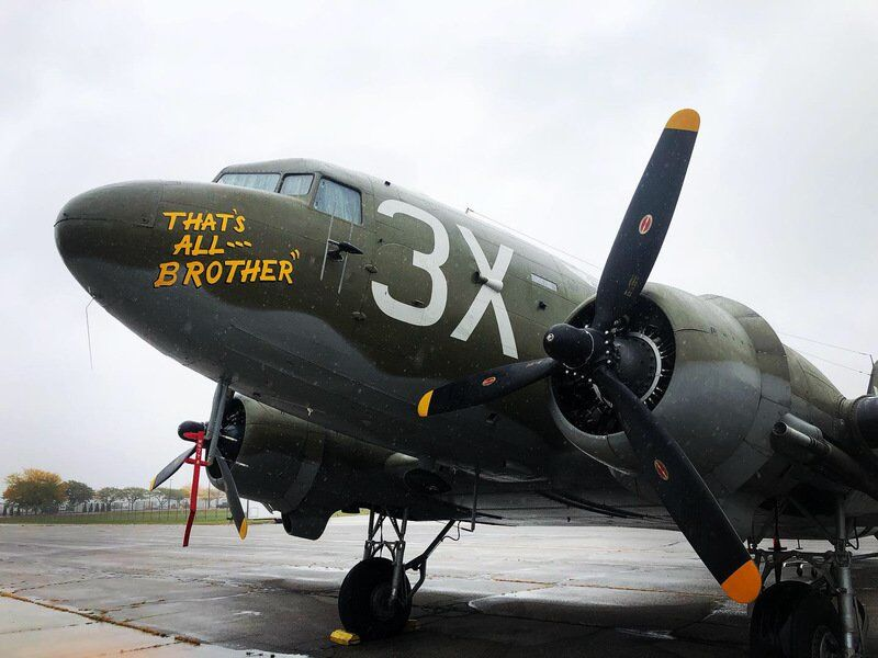 Restored aircraft to land at Terre Haute Airport