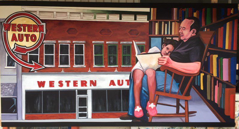 New mural in Marshall on display at public library
