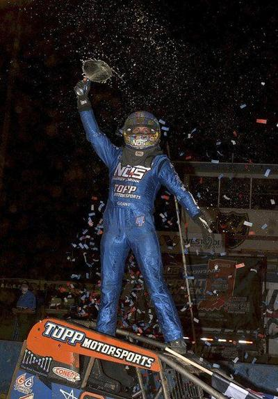 What a finish: Grant passes Stockon on third 'last lap' to win Don Smith Classic
