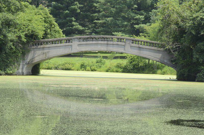 Lake Le Fer foot bridge falls to age
