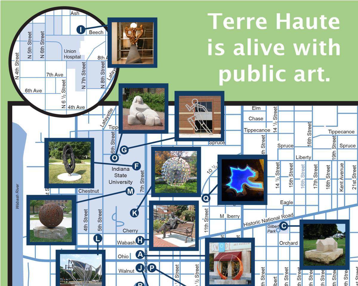 Arts Spaces Sculpture Collection Walk/Drive Tour Map