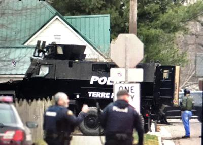 police standoff photo two