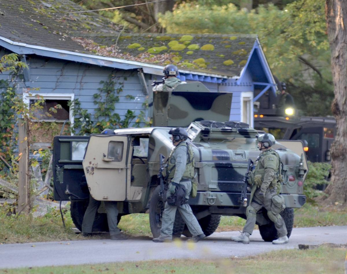 Scene at Markle Avenue standoff