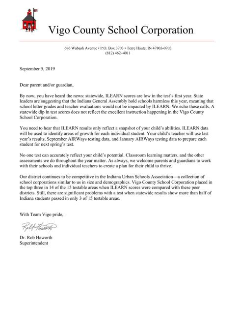 Letter To Parents From Teacher Beginning Of The Year.Vcsc Superintendent Sends Letter Home To Parents To Ease