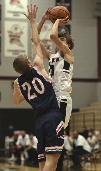 Three-point play lifts Knights over Patriots 55-52