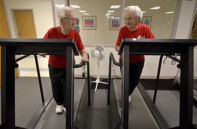 At 94 and 96, Wanda and Wilma still working out