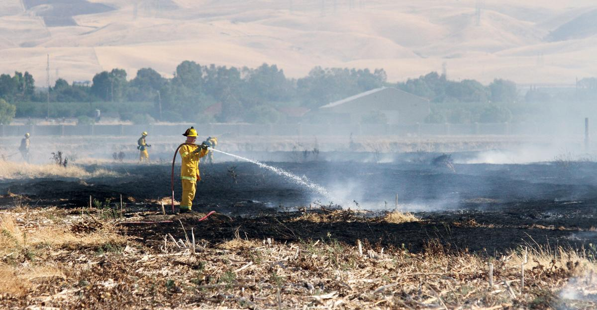 Grass fire on Byron Road