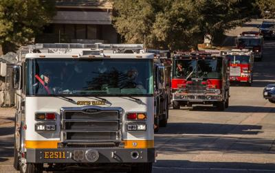 Scotts Valley's engine heads north to Butte County to assist with the wildfire