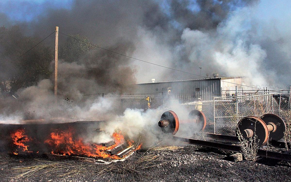 Fire on Chrisman Road