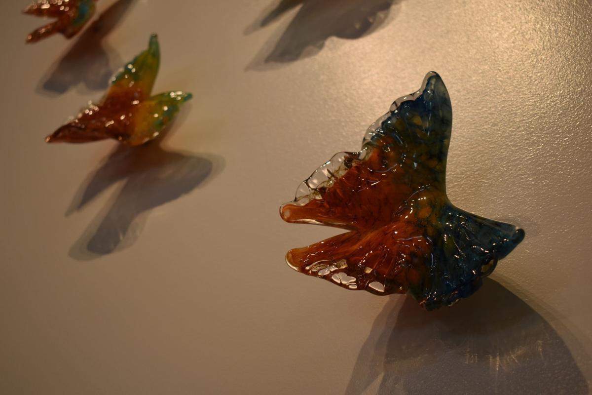 Lea de Wit's beautiful glass butterflies.