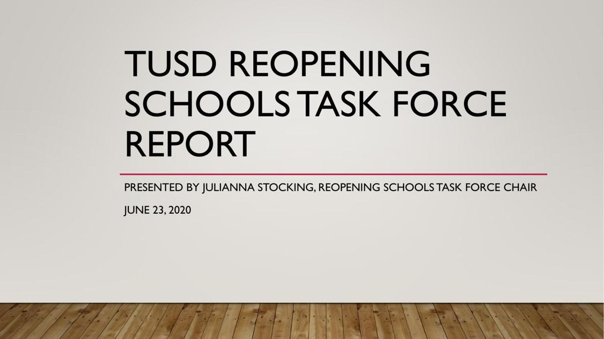 TUSD Reopening Schools Task Force Report