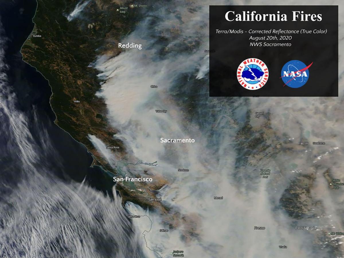 Smoke map National Weather Service