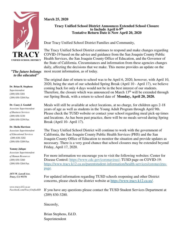TUSD school closure update, March 25
