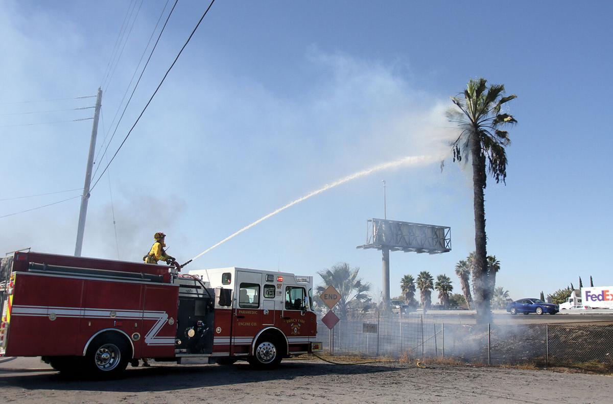 Fire on I-205