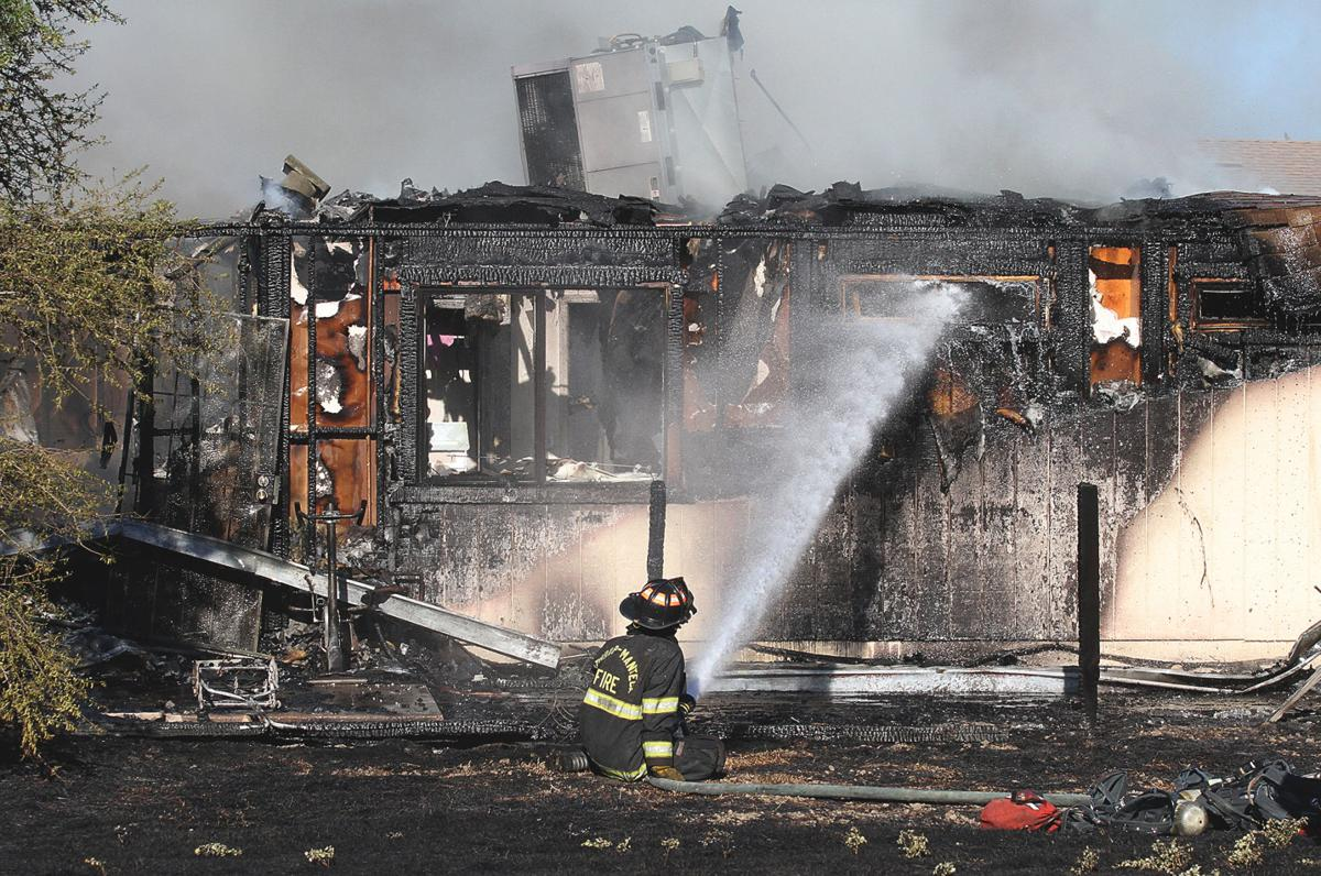 Five-alarm fire on Clover Road