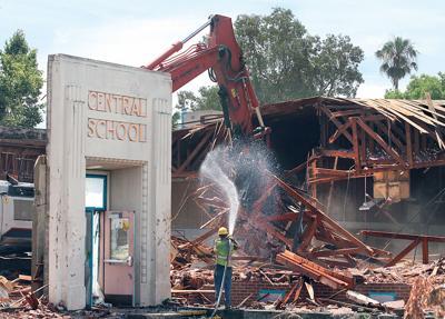 Central School demolition continues