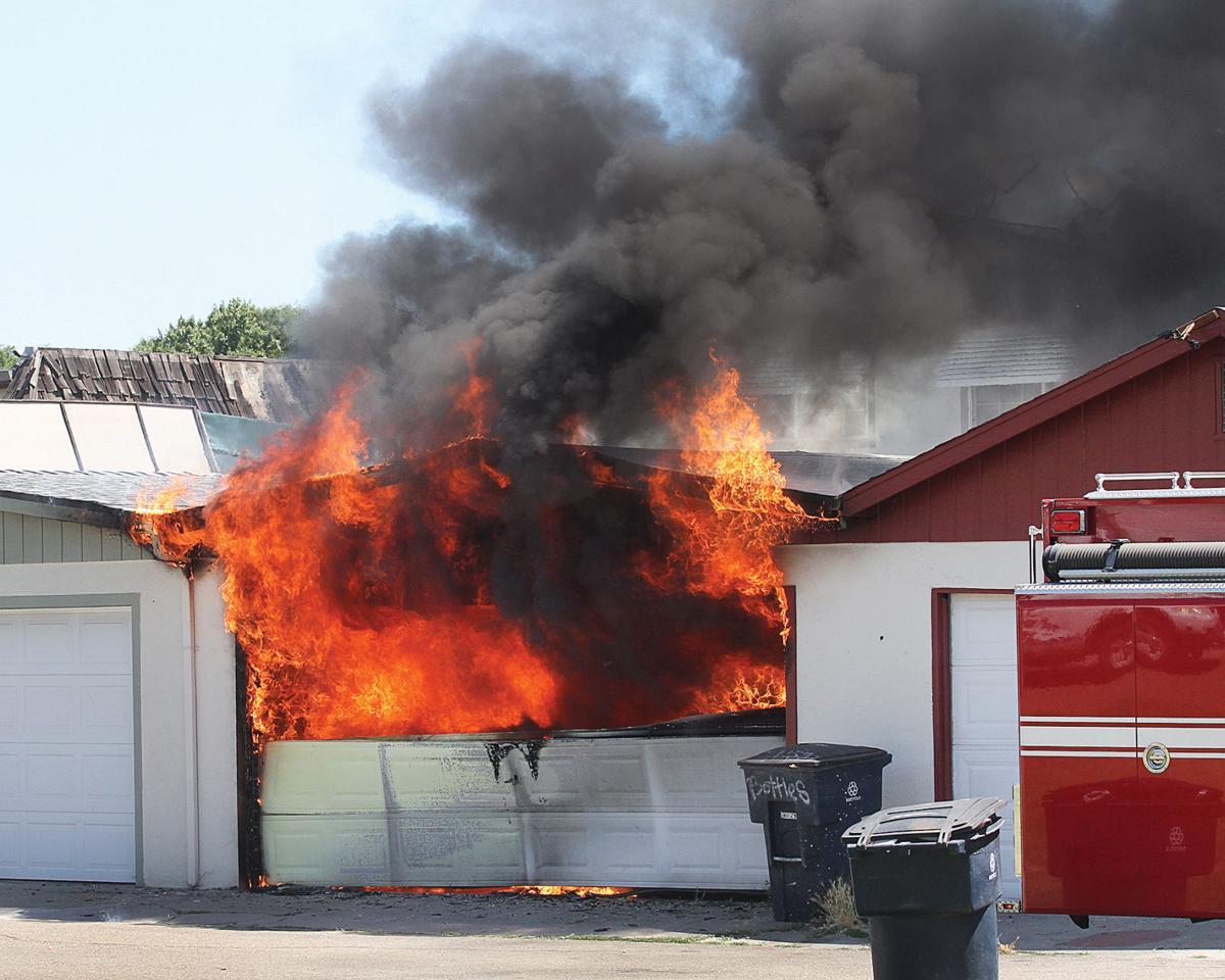 Garage fire on Palm Circle
