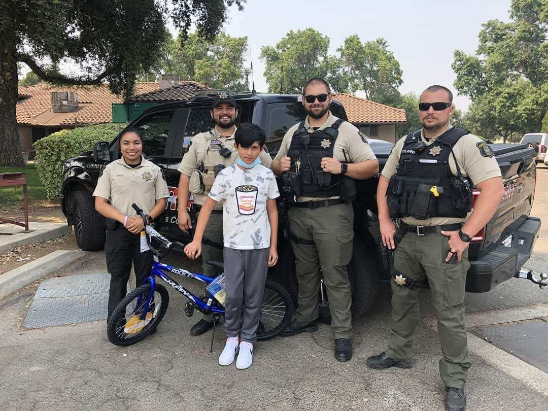 Patterson Police hold back to school bike raffle
