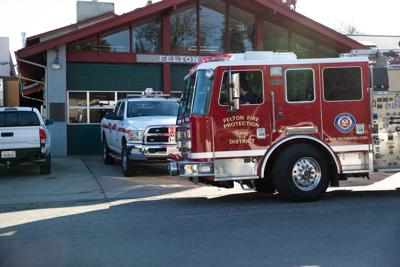 Engine 2310 at the Felton Fire station preparing to leave for a training exercise.