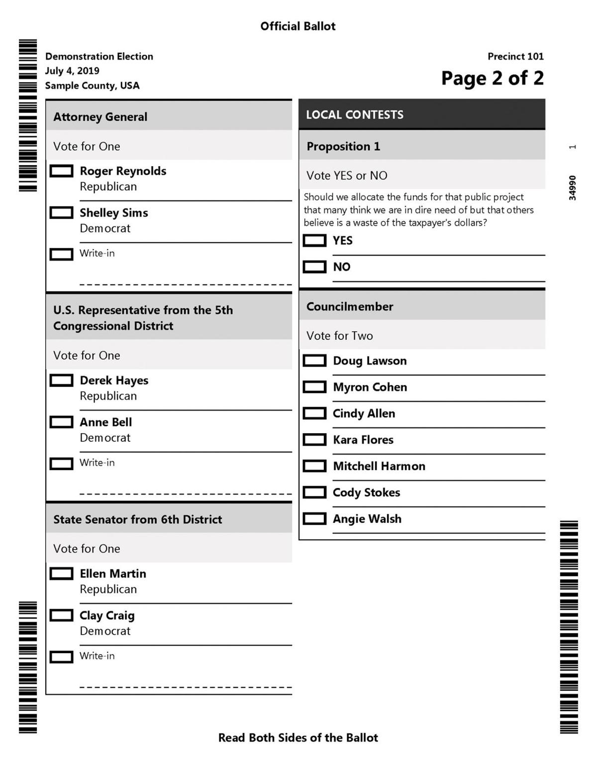 New voting system