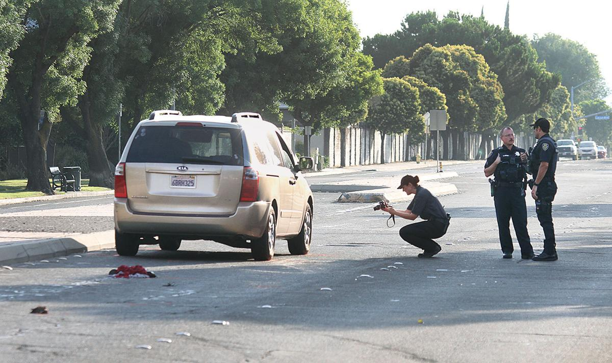 Woman hit by minivan