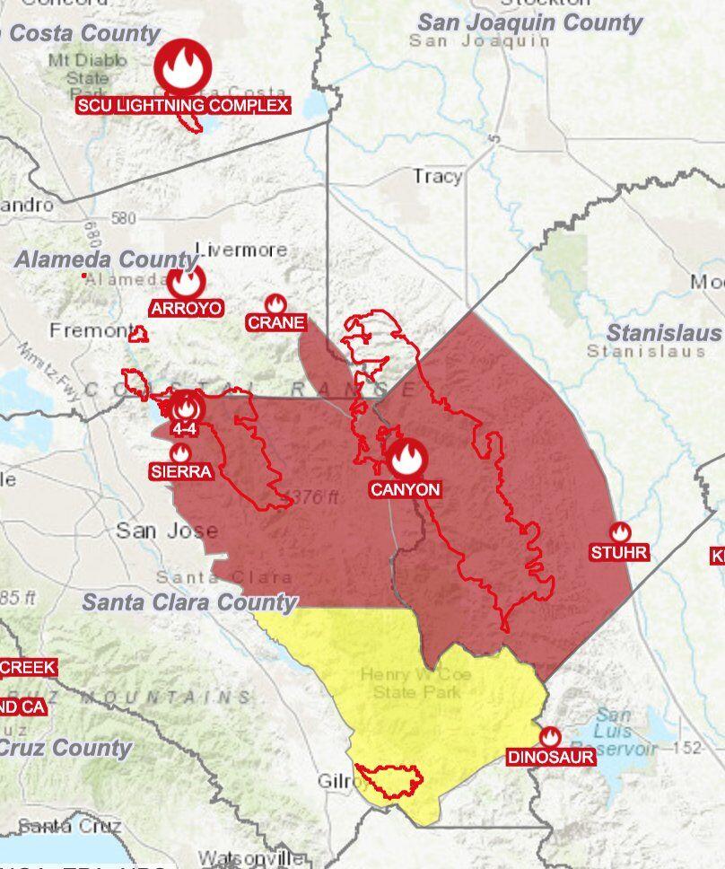 Cal Fire Evacuation Map