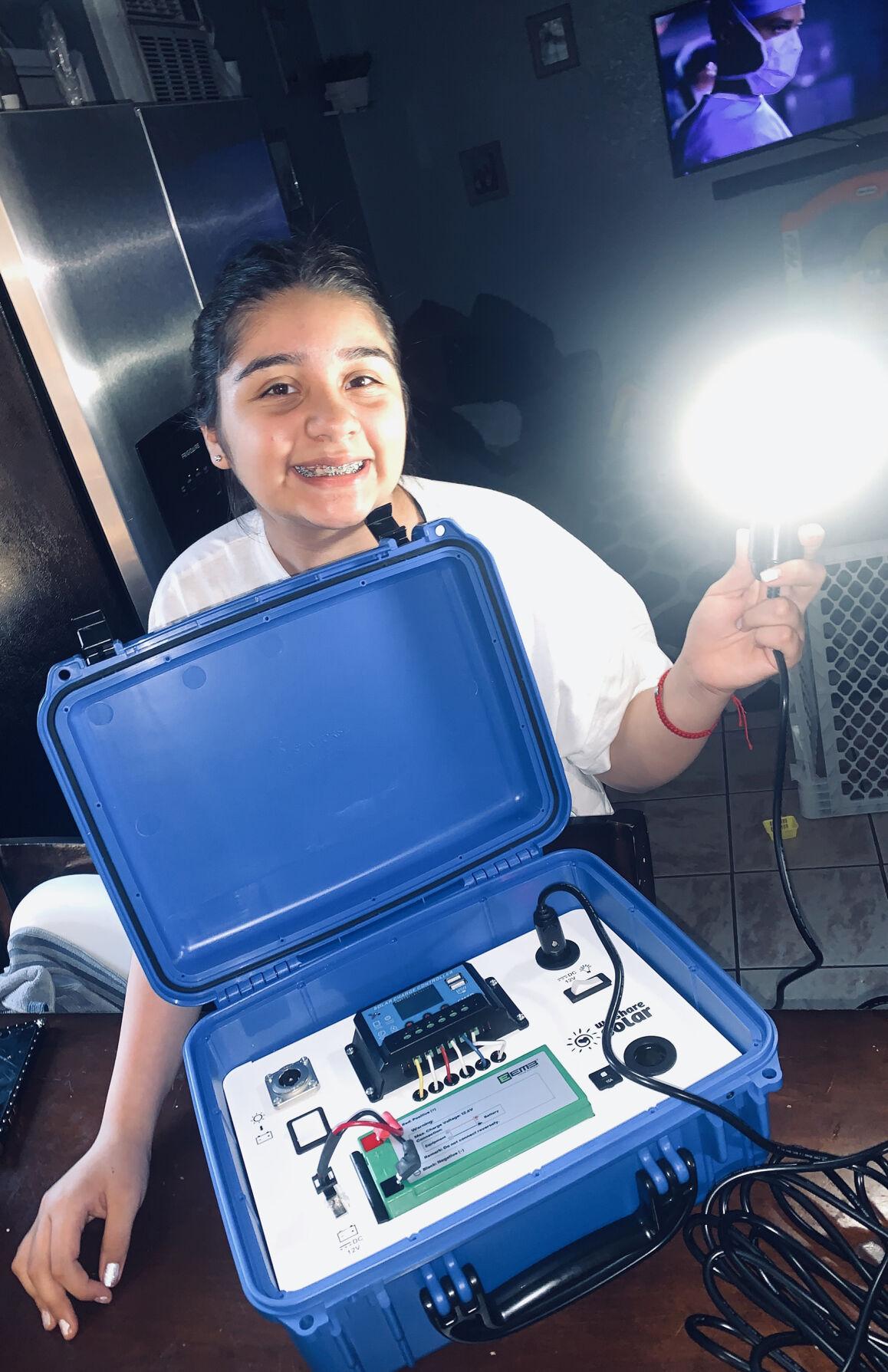 Solar suitcase virtual day camp