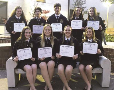 Tracy High FFA state degrees