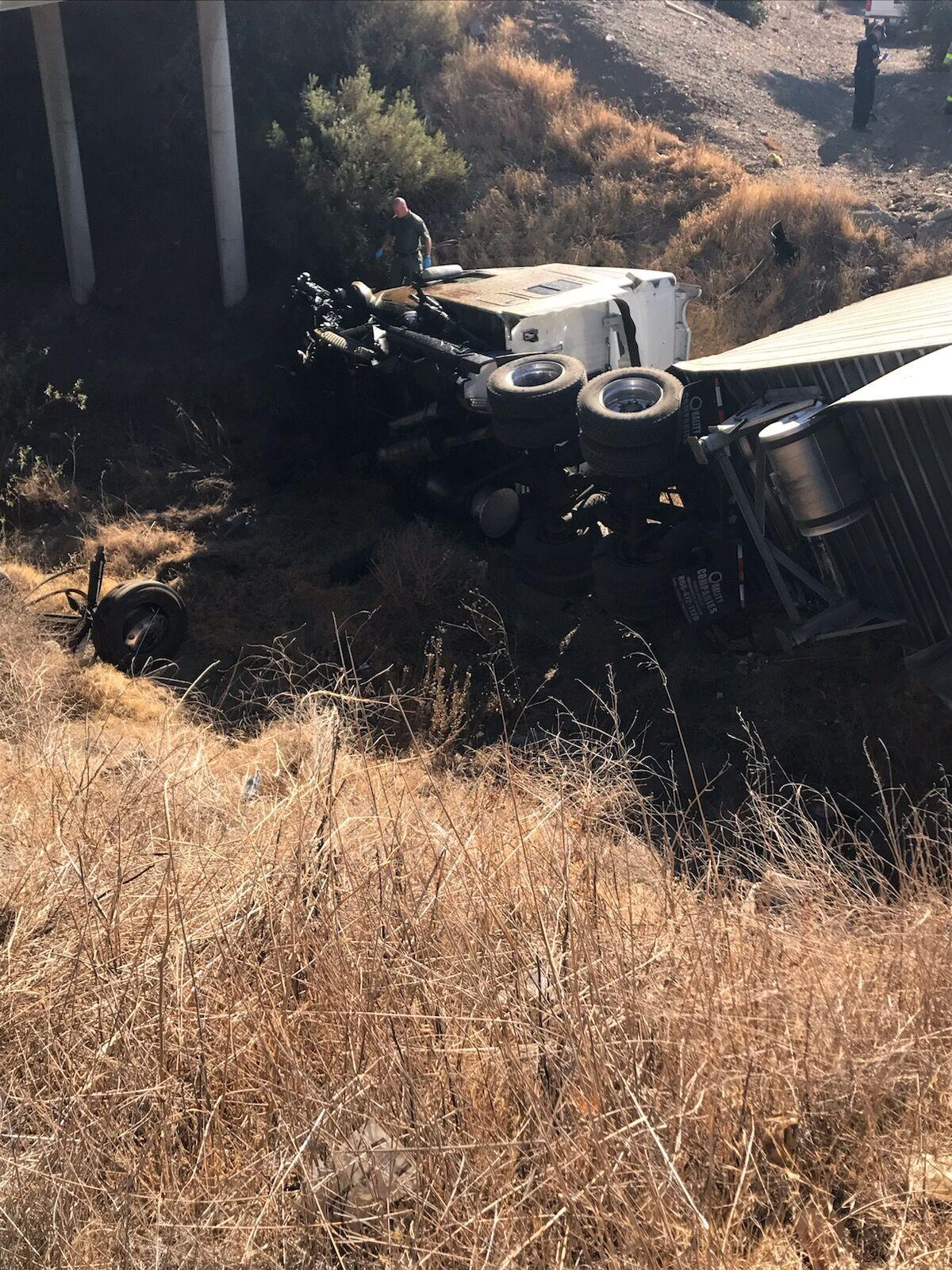 Solo vehicle accident closes southbound Interstate 5 Westley off-ramp
