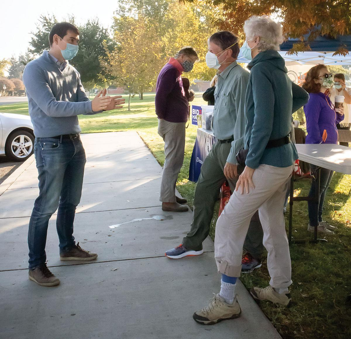 Josh Harder visits Tracy to 'Get Out the Vote'