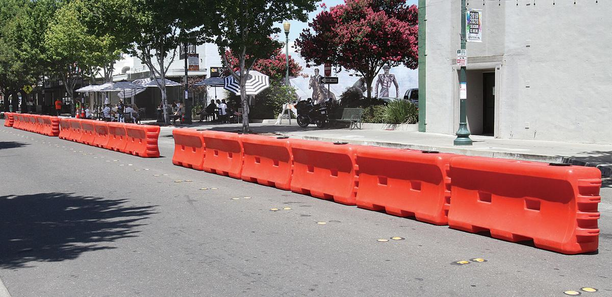 """Barricades for """"streatery"""" installed"""