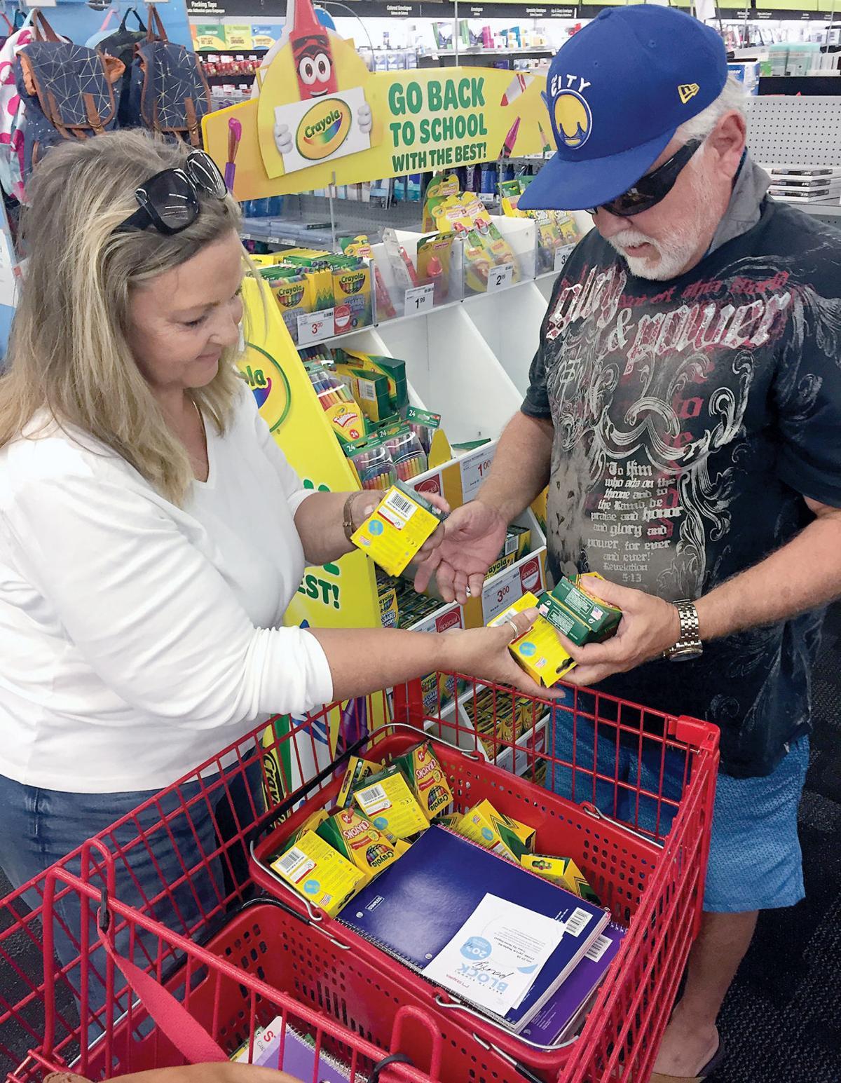 Teachers stock up on supplies