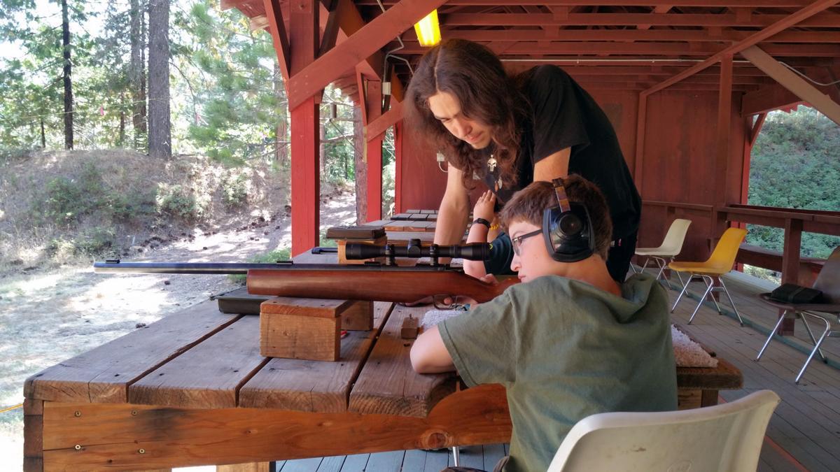 Boy Scouts rifle instruction