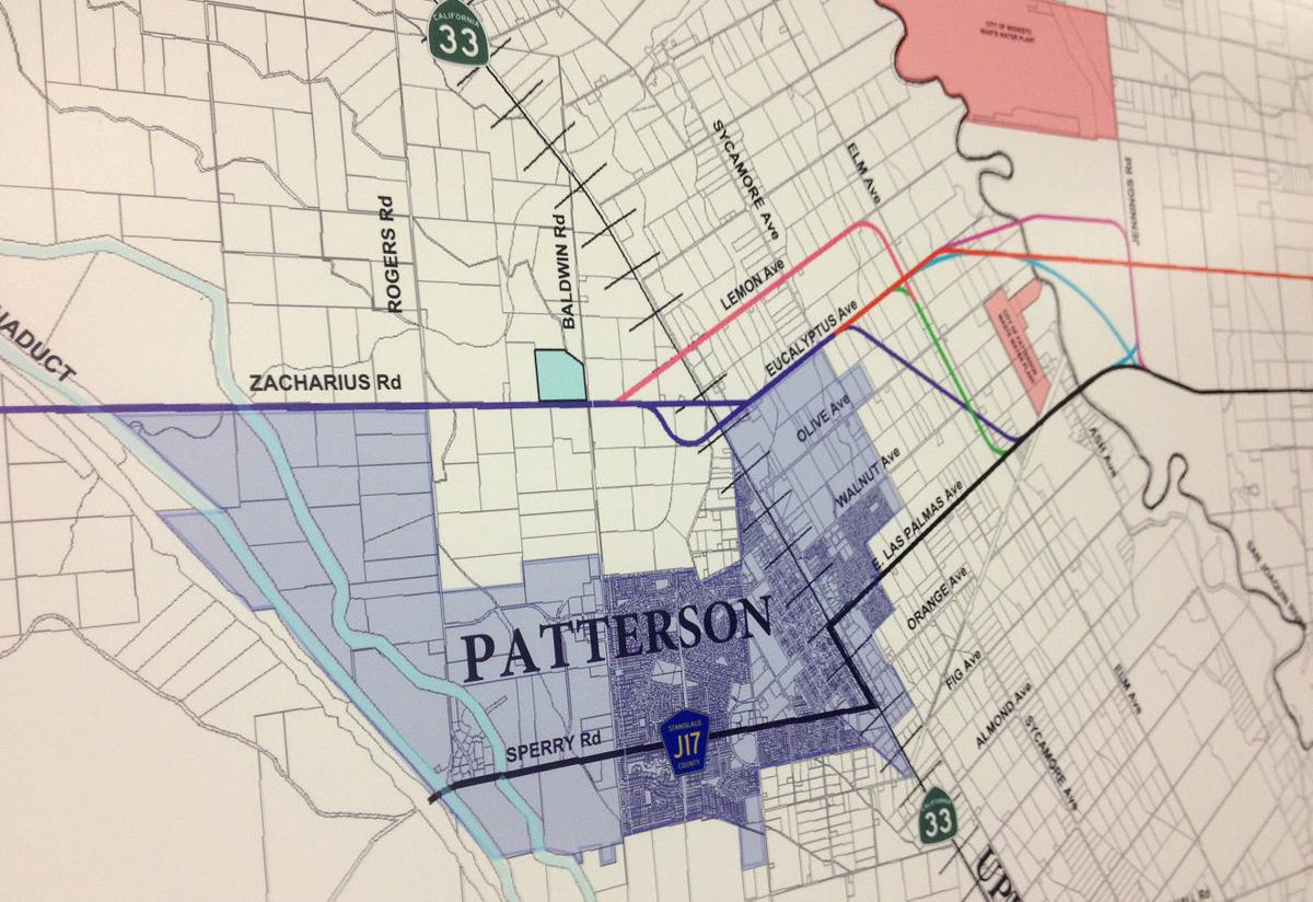 Proposed routes of the SCC around Patterson