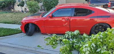Front yard car accidents