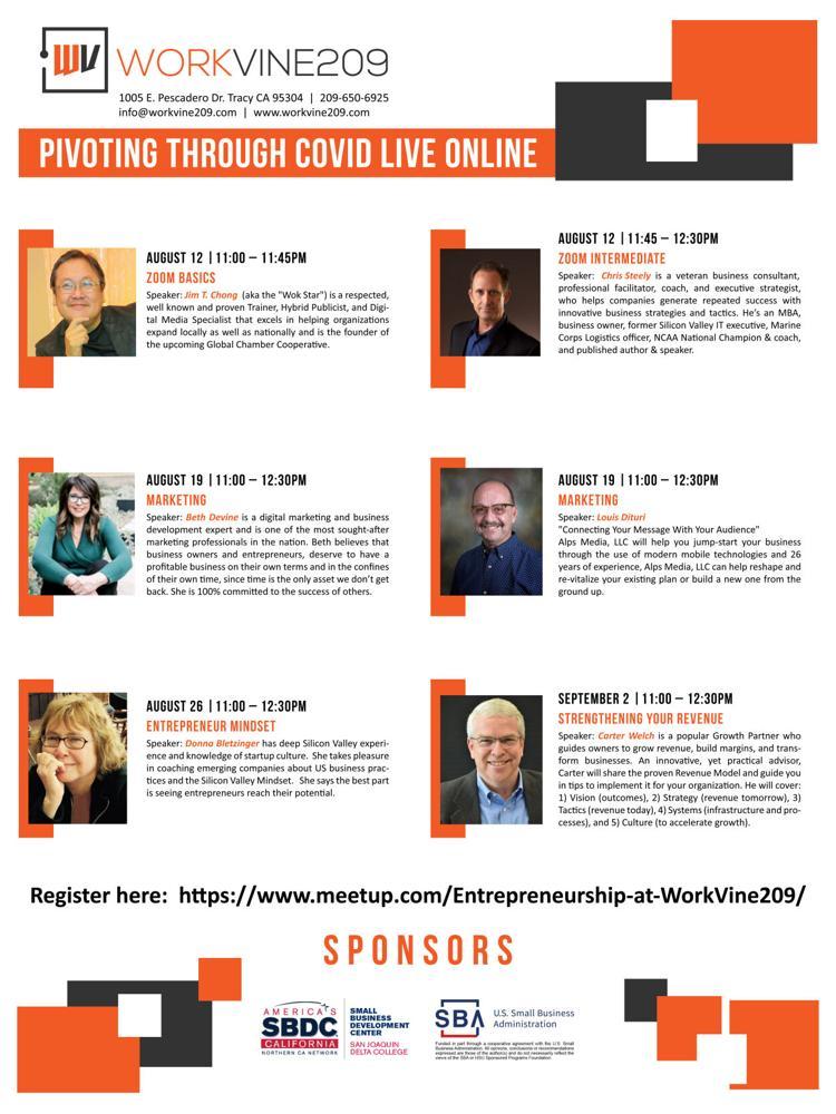 Pivoting Through COVID Live Online