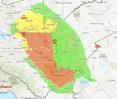 Evacuation Map as of Aug. 30, 2020