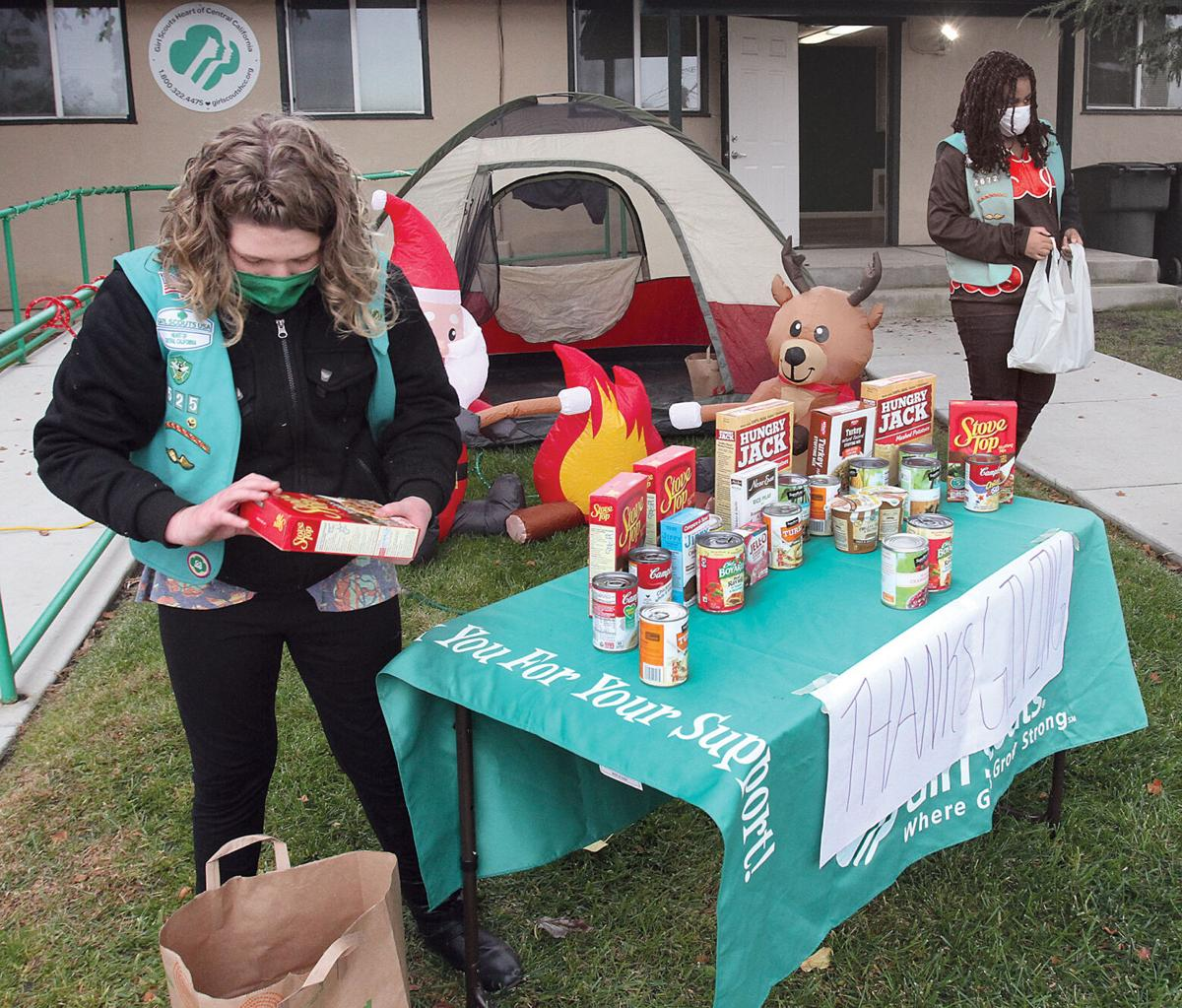 Girl Scout food drive
