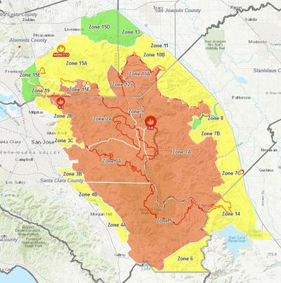 Evacuation map on Aug. 27, 2020