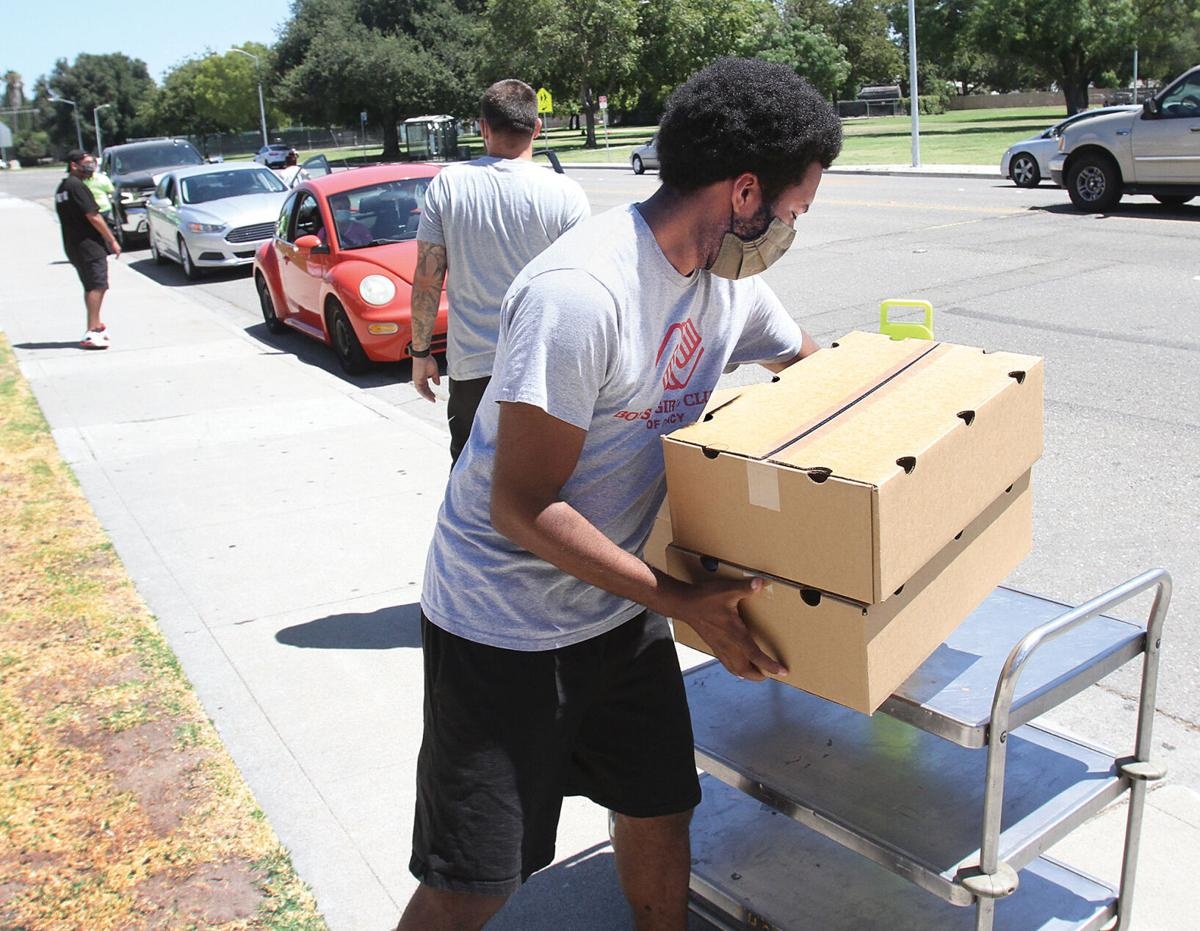 Food box donations