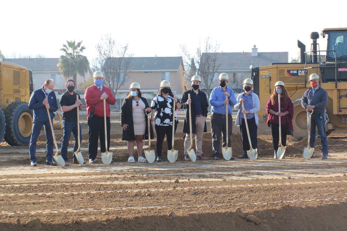 PJUSD Board of Trustees break ground on new theater project