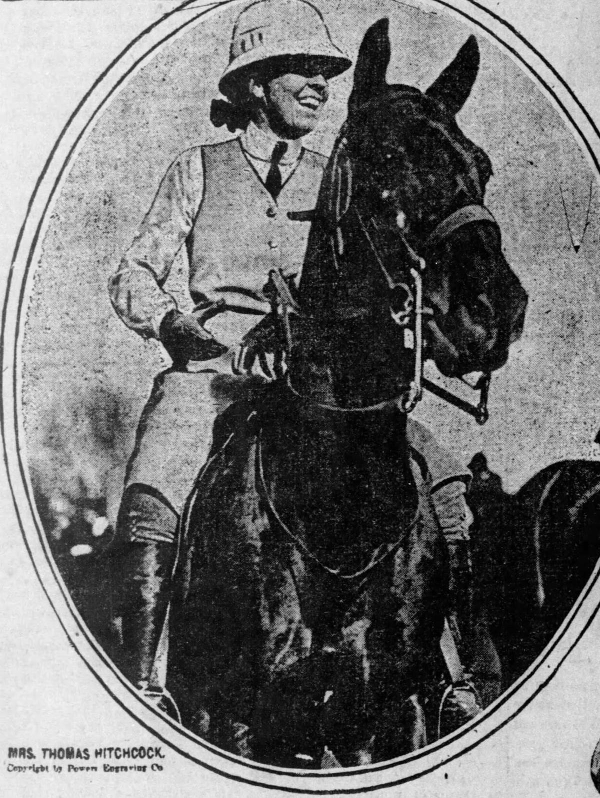 Photo credit: SF Examiner, June 1913. Louise Hitchcock, the only woman in the Polo Hall of Fame.