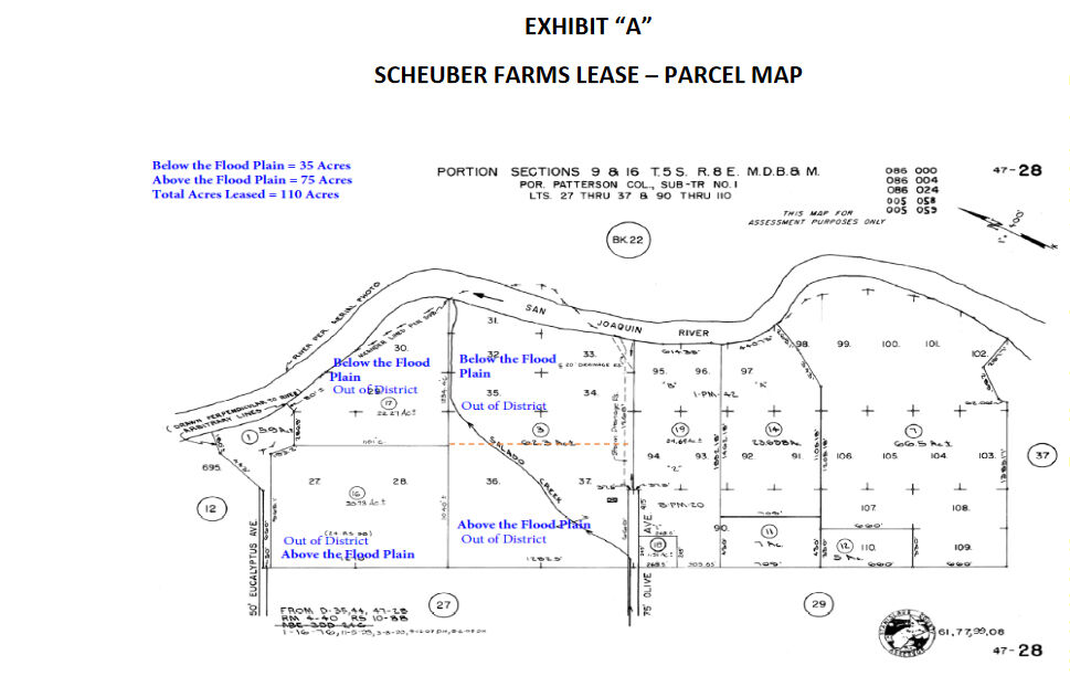 Scheuber Farms leased land map