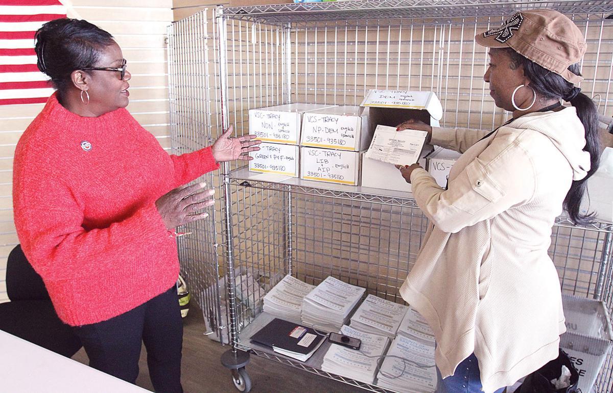 Voting center open