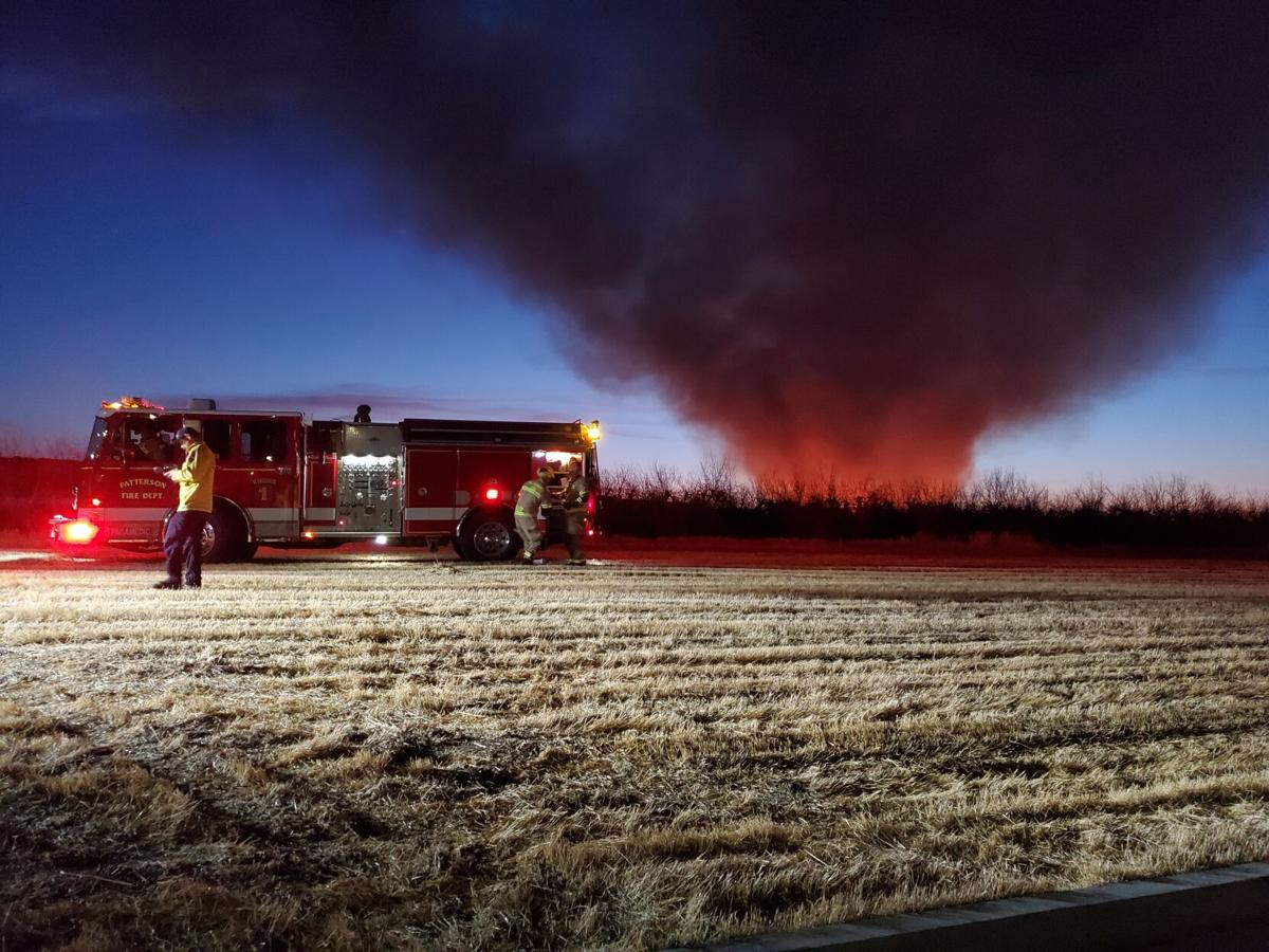 Orchard fire near Zacharias and Rogers