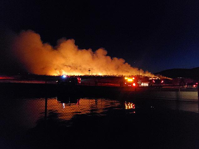 Orchard Fire near Zacharias Road